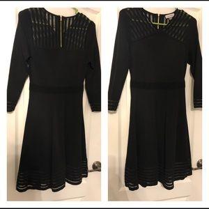 Calvin Klein Little Black Dress with Sleeves
